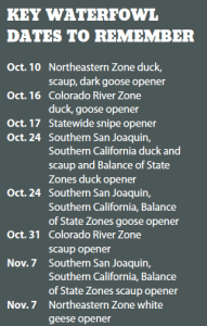 Key Waterfowl Dates to Remember