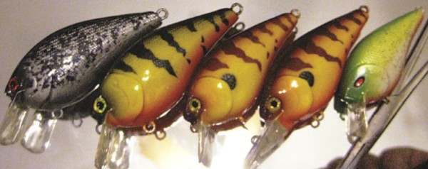 These custom-made lures include one chrome crappie and one yellow perch. Lure designer Eric McIntire didn't even name the others that were ordered specially by customers. Your imagination can run wild with these items. (ERIC MCINTIRE/FISHHEAD CUSTOM LURES)