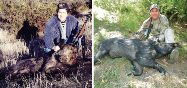 Author Tim Hovey the first and second time he shot a wild swine