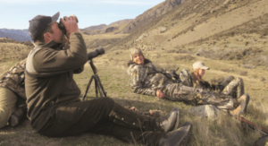 Hunters glassing for Tahr