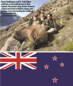 A successful hunt in New Zealand, and New Zealand's flag