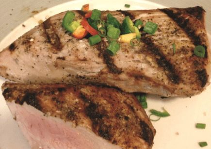 Juicy yellowtail fillets shouldn't be overcooked. Just make sure you don't leave thinner cuts of fish on the grill for too long before flipping them. (ALBERT QUACKENBUSH)