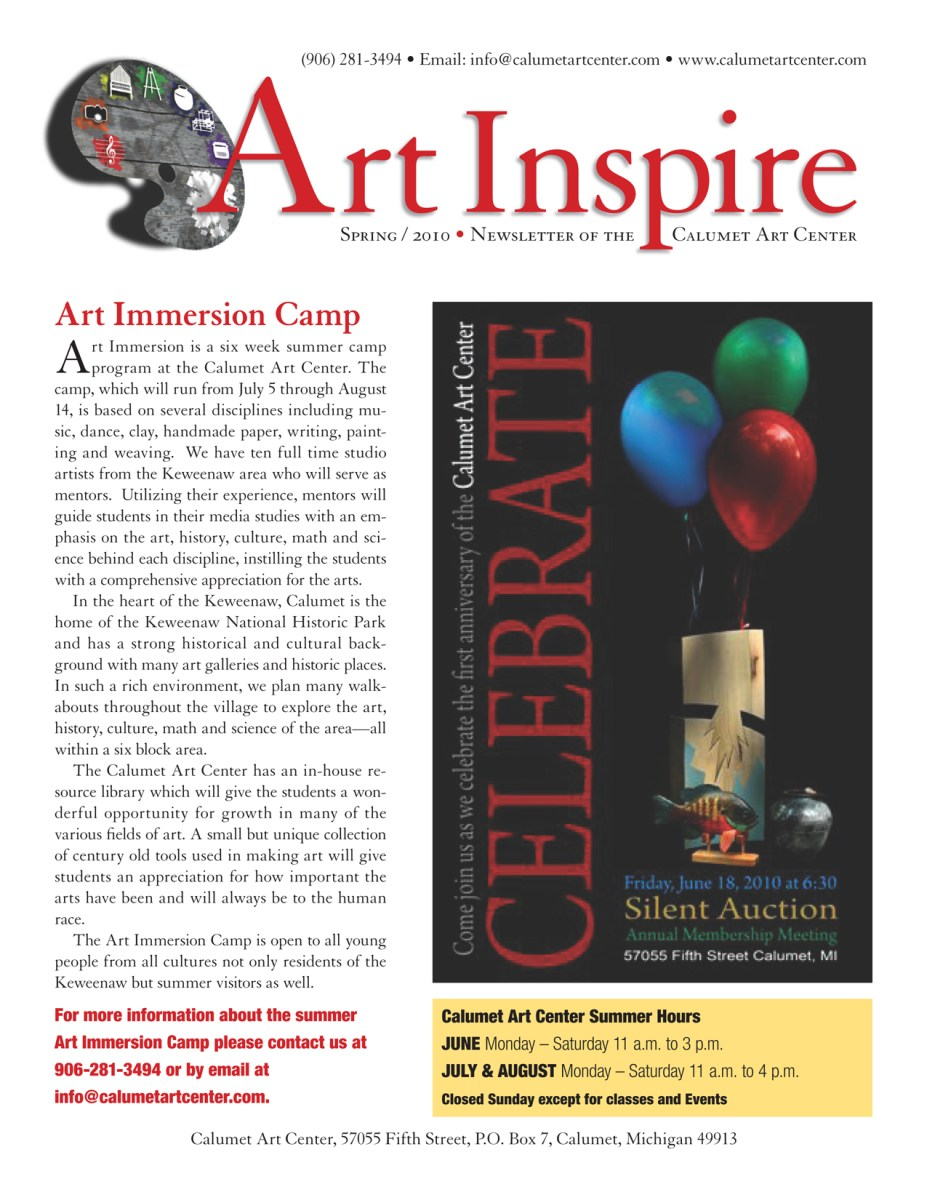 spring 2010 newsletter, page 1