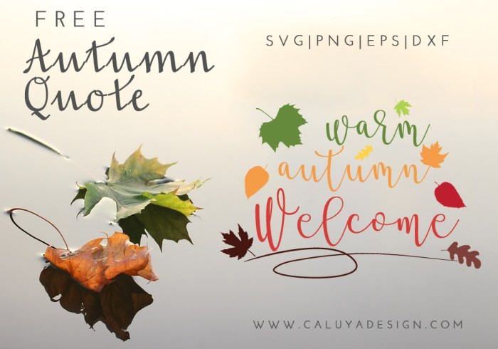Autumn Quote Free SVG