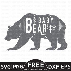 Baby Bear Free SVG