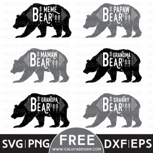 Bear Family Variety Free SVG