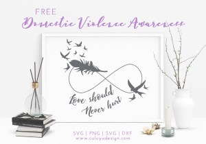 Domestic Violence Awareness Free SVG