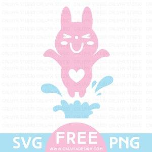 kawaii bunny free SVG & PNG