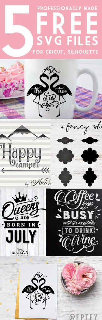 FREE 5 Professionally Made SVG Cutting Files