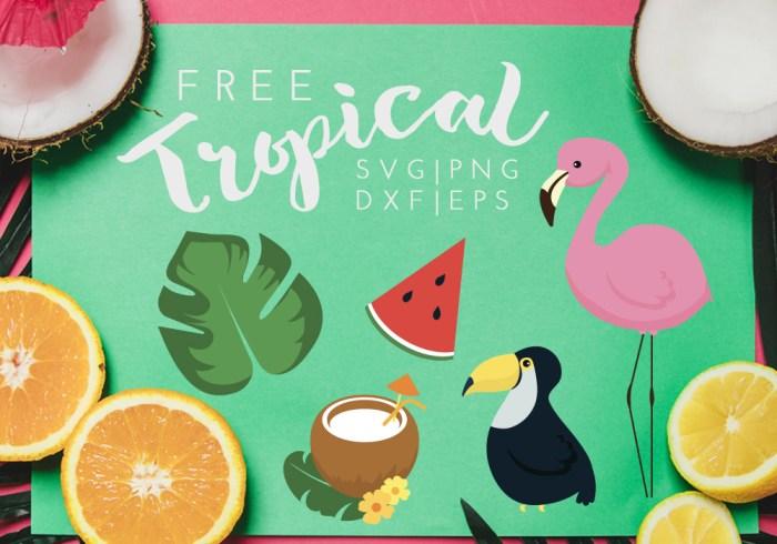 Tropical Island Free SVG
