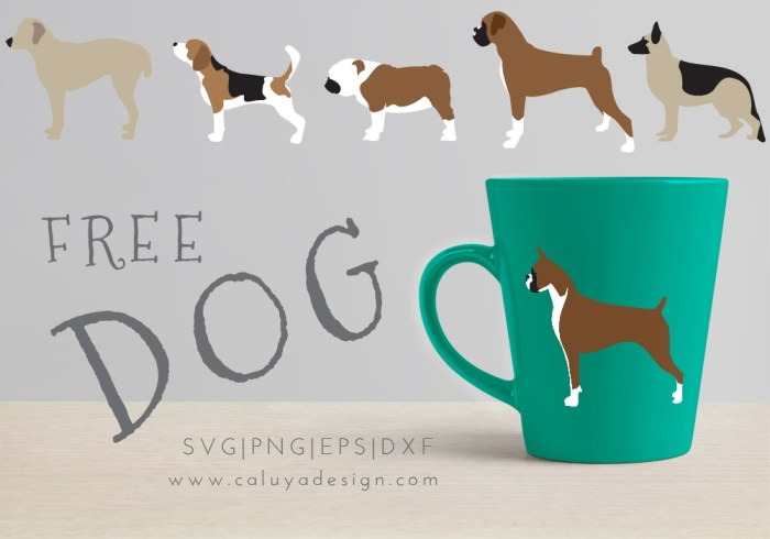 dog collection free SVG