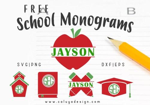 school monogram free SVG