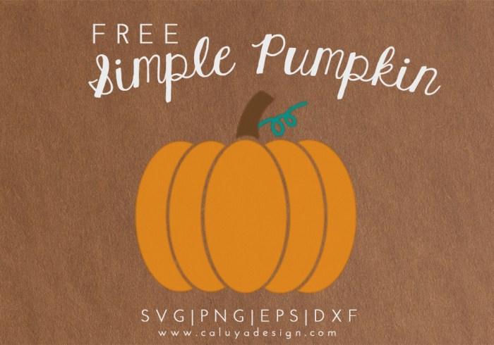 simple pumpkin free SVG