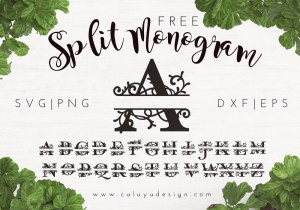 split monogram free SVG
