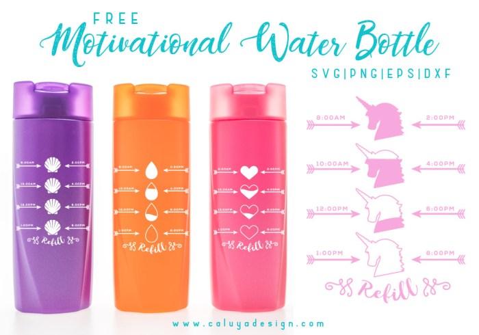 Motivational Water Bottle Free Svg Png Dxf Amp Eps Download