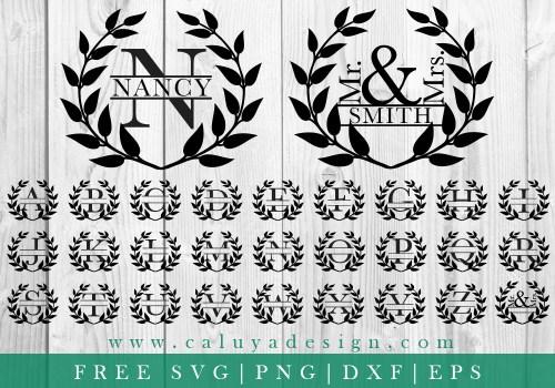 Wreath Monogram FREE SVG