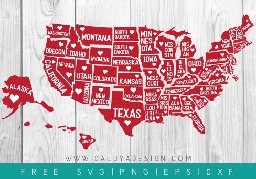 Free 51 states SVG