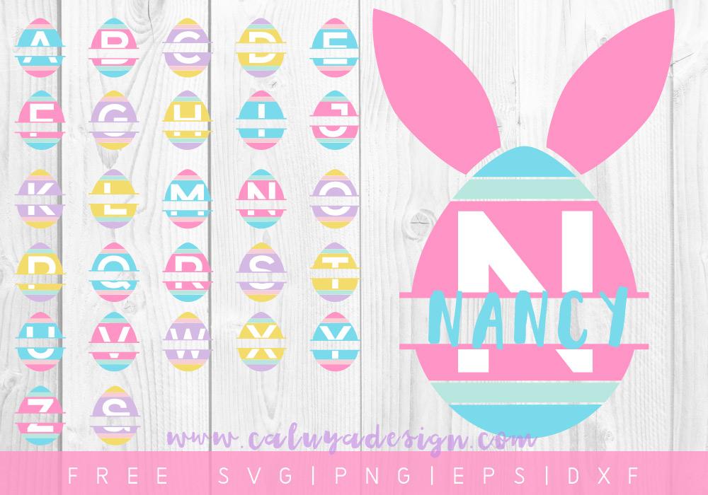 free easter egg monogram svg  png  dxf  u0026 eps by caluya design