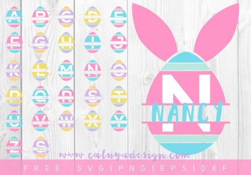 Free Easter Egg Monogram SVG