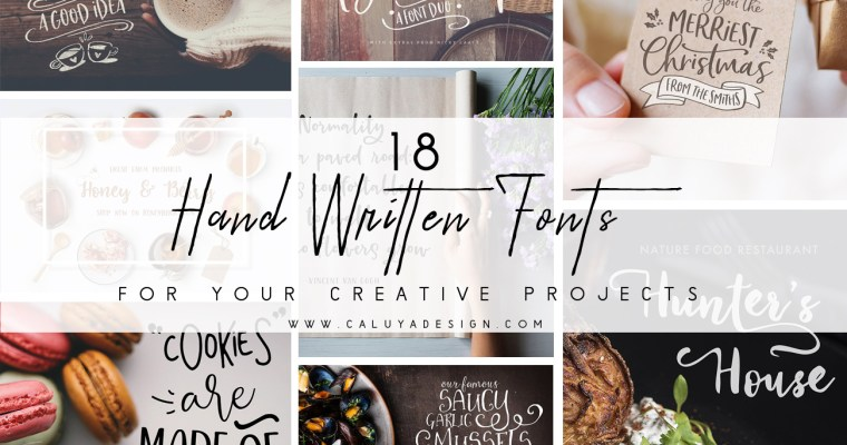 18 Stunning Hand-Written Fonts You Need For Creative Projects
