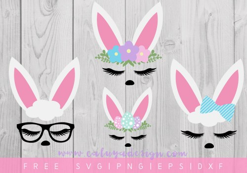 Free Bunny Faces SVG