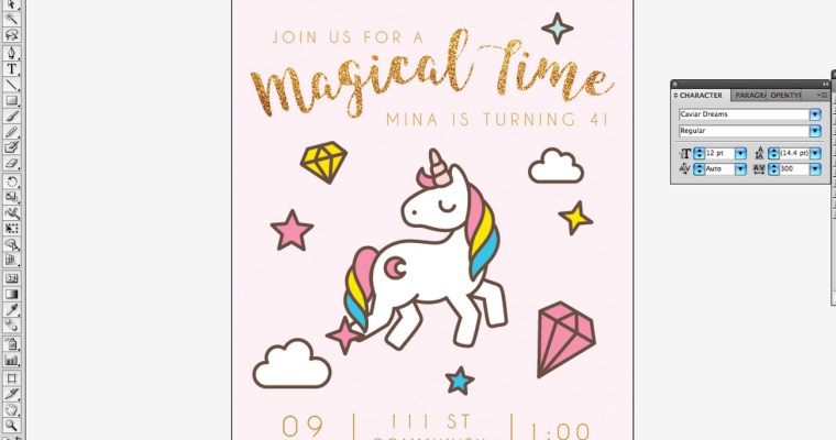 How to Make Invitation in 15 Minutes By Using Adobe Illustrator and Freepik