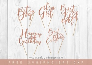 Free Cake Topper SVG, PNG, EPS & DXF File Download