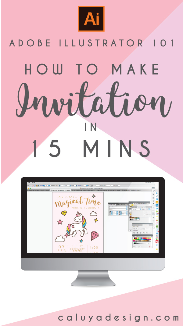 How to Make Invitation in 15 Minutes