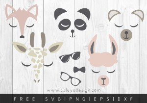 Free animal face for boys SVG