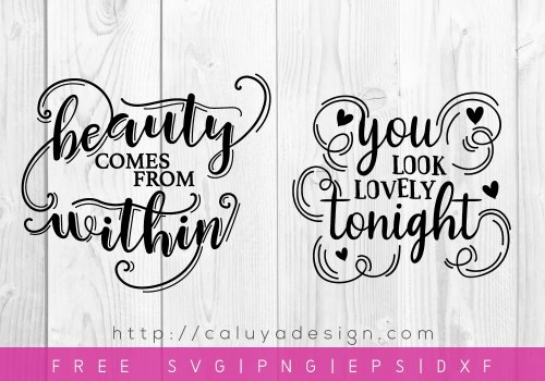 free beauty quote svg