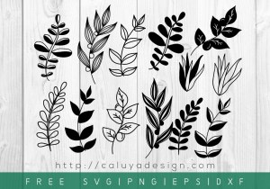 Free Botanical Leaves SVG