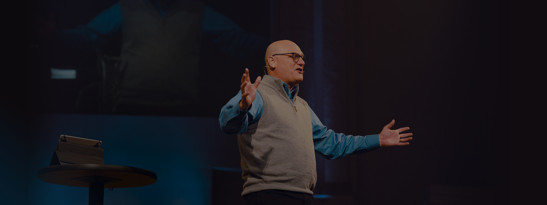 Pastor Willy Rice Teaching at Calvary Church Clearwater in Clearwater, Florida.