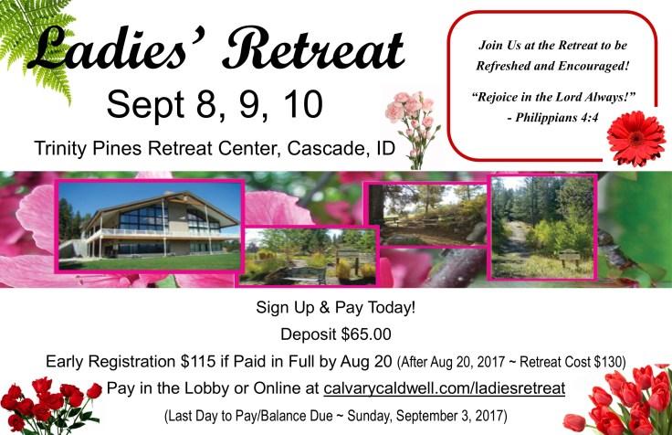 2017 ladies retreat poster