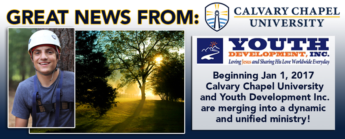 Great news from Calvary Chapel University!