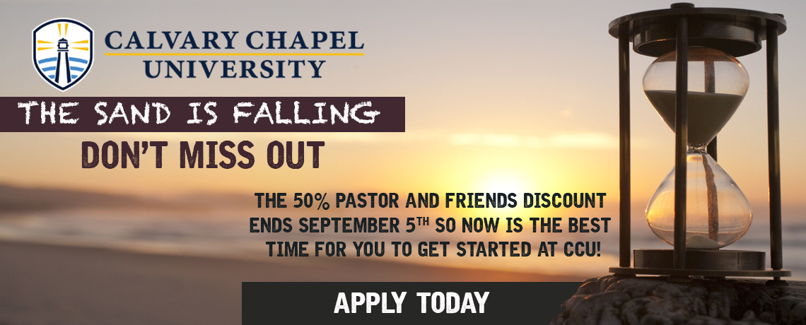 Ending Soon: Pastor and Friends Discount