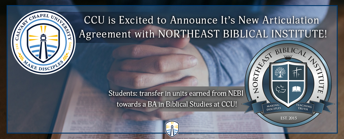 Northeast Biblical Institute Articulation Agreement