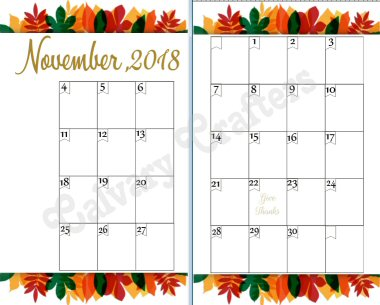Thanksgiving planner preview 4