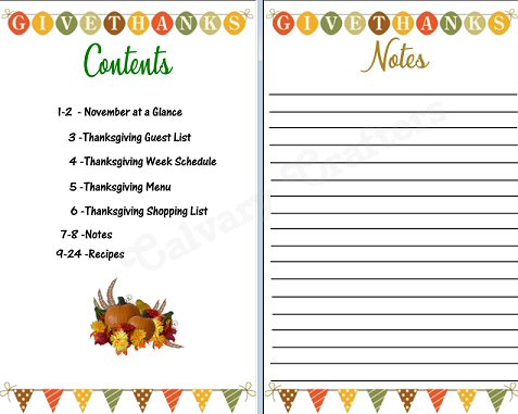 Thanksgiving Planner Preview 5
