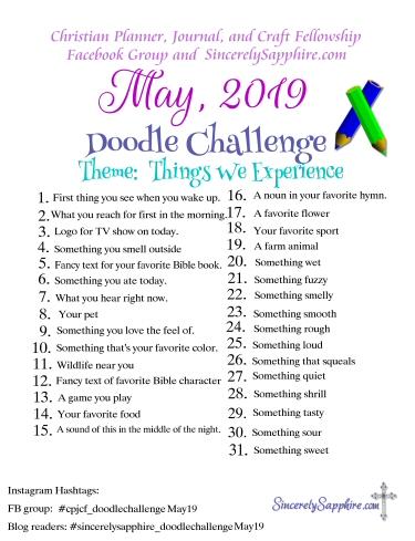 May 2019 Doodle Challenge Download