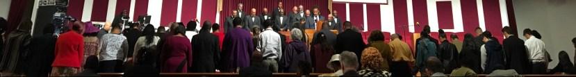 Congregation in Prayer