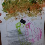 Textured tree by Pre-K Student