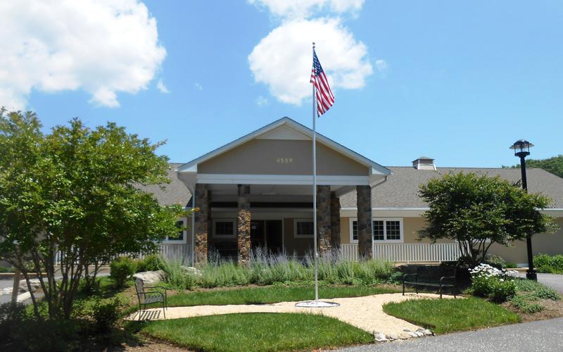 Front of the Burnett Calvert Hospice House