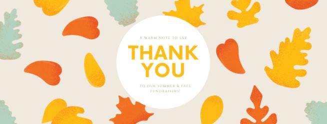 Fundraiser thank you fall 2019