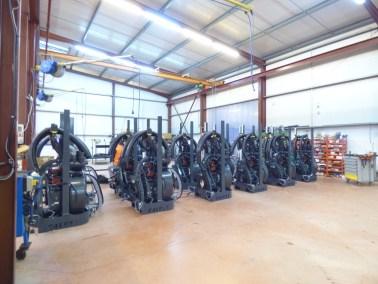 photo de la fabrication montage des machines de pulvérisation - Société Calvet