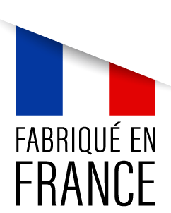 ruban fabrication française , texte en bas