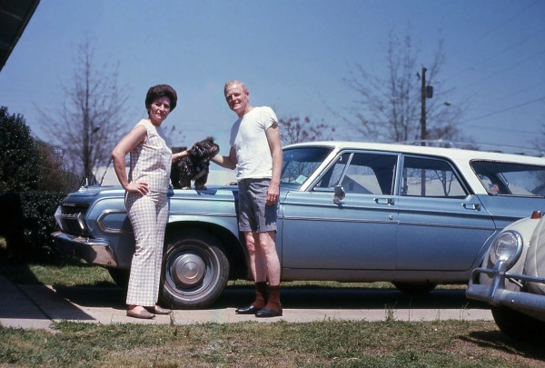 Mom, Dad, Snooky, and 64 Plymouth Belvedere Station Wagon