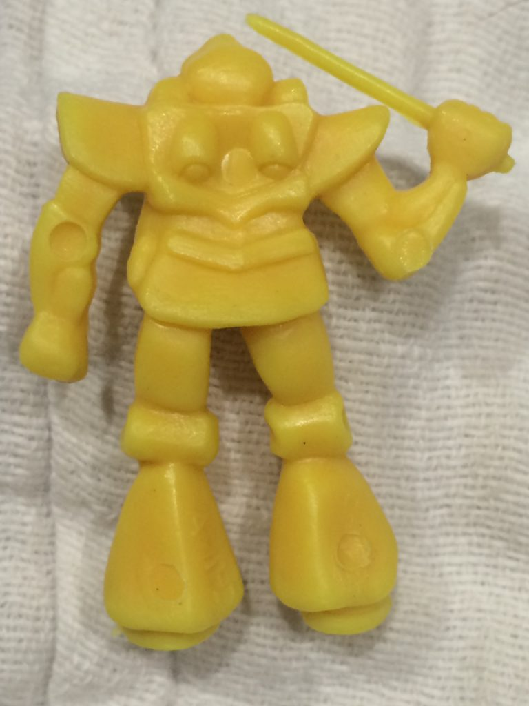 Yellow Robot with Sword Back