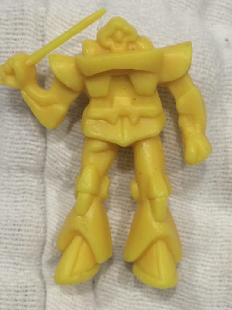Yellow Robot with Sword Front
