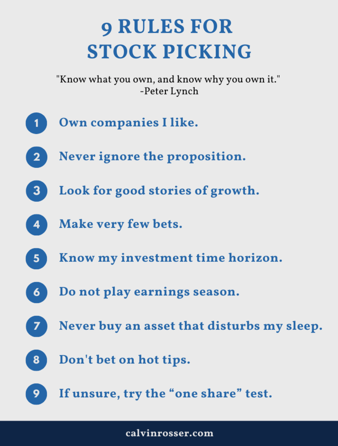 9 rules for stock picking