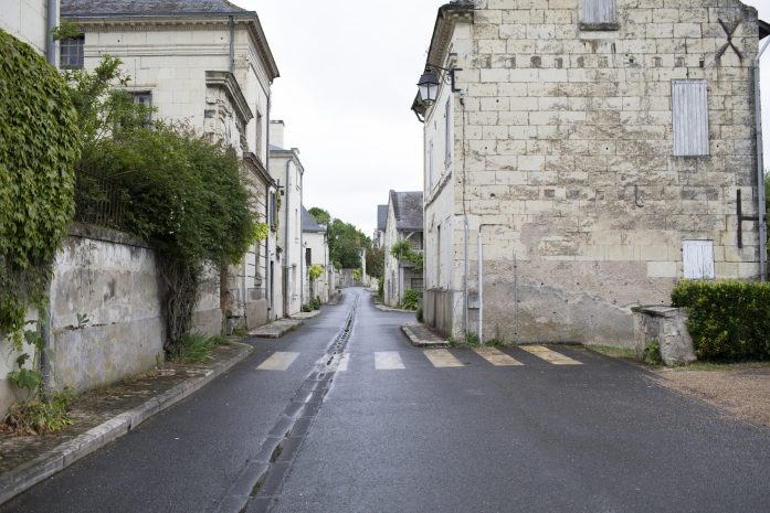 french countryside towns with a pet